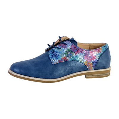 The Divine Factory DERBIES BLEU MARINE Chaussure France_v1626