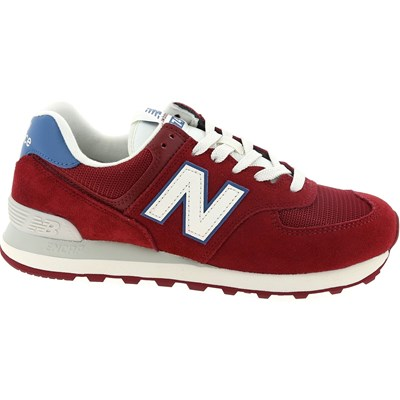 New Balance ML574 BASKETS BASSES ROUGE Chaussure France_v10344