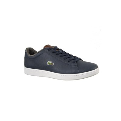 Lacoste CARNABY EVO BASKETS BASSES BLEU Chaussure France_v10122
