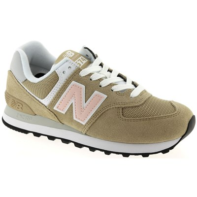 New Balance WL574 BASKETS BASSES BEIGE Chaussure France_v10352