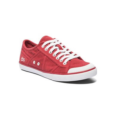 Tbs VIOLAY BASKETS BASSES ROUGE Chaussure France_v5765