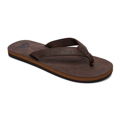 Quiksilver MOLOKAI NUBUCK TONGS MARRON Chaussure France_v2872