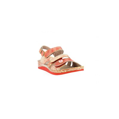 Laura Vita SANDALES ROUGE Chaussure France_v6434