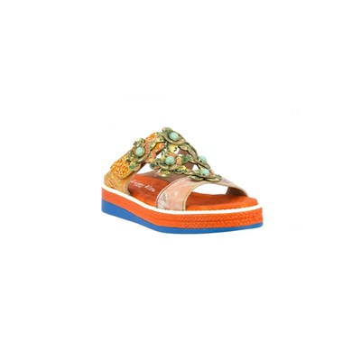 Laura Vita SANDALES ORANGE Chaussure France_v4288