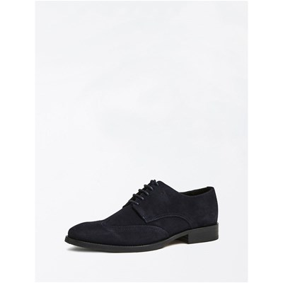 Marciano Los Angeles DERBIES EN CUIR BLEU MARINE