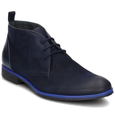 Chaussures Homme | Gino Rossi BASKETS MONTANTES BLEU MARINE