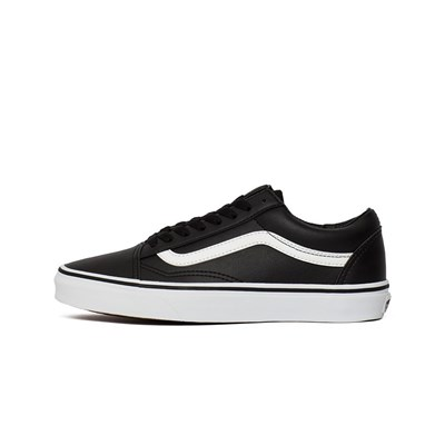 Vans OLD SKOOL LEATHER CLASSIC TUMBLE BASKETS BASSES NOIR Chaussure France_v14245