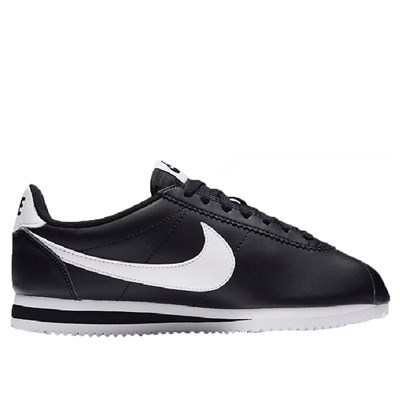 Nike CLASSIC CORTEZ LEATHER BASKETS BASSES NOIR
