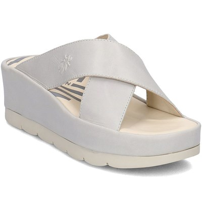 Fly London MULES BLANC Chaussure France_v14797