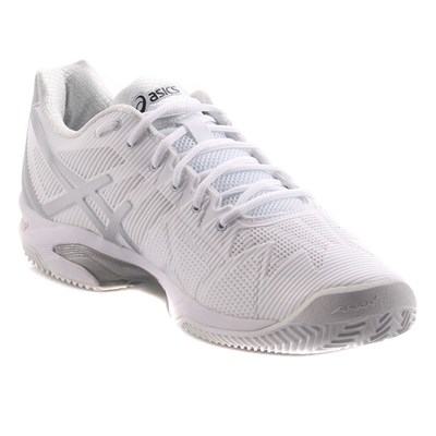 Asics GELSOLUTION SPEED 3 CLAY 0193 CHAUSSURES DE TENNIS BLANC Chaussure France_v16383