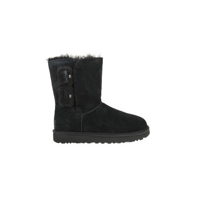 Ugg MINI BAILEY FLUFF BUCKLE BOTTINES NOIR Chaussure France_v18324