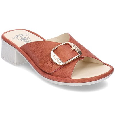 Fly London MULES ROUGE Chaussure France_v14064