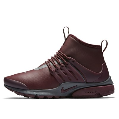 Nike AIR PRESTO MID UTILITY BASKETS MONTANTES BORDEAUX Chaussure France_v15639