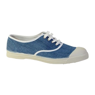 Bensimon BASKETS BASSES BLEU JEAN Chaussure France_v1429