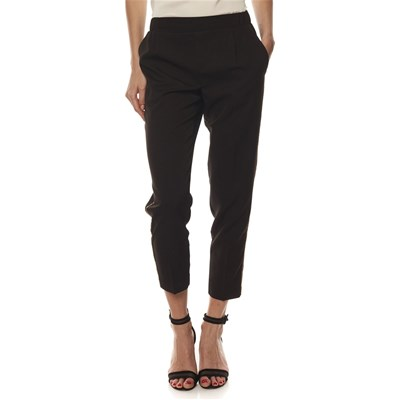 LPB Woman PANTALONE CON FASCE DECORATIVE NERO
