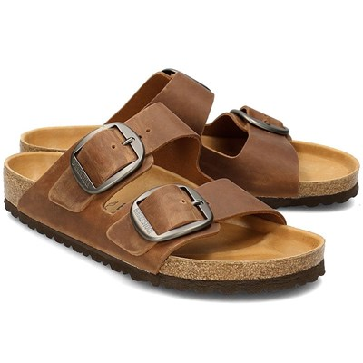 Birkenstock ARIZONA BIG BUCKLE SANDALES MARRON