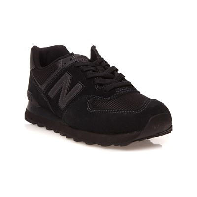 New Balance ML574 SNACKERS IN PELLE BIMATERIALE NERO