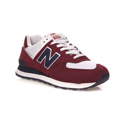 New Balance ML574 SNEAKERS AUS LEDER BORDEAUXROT