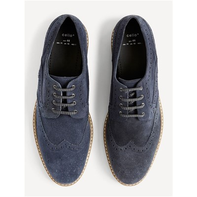 Celio CYBROGUE VELOURSLEDERDERBIES MARINEBLAU