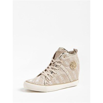 Chaussures Femme | Guess JILLY BASKETS MONTANTES BEIGE