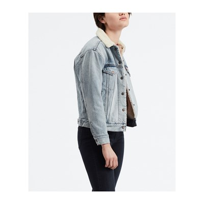 Levi's EX-BF SHERPA GIACCA IN JEANS BLU