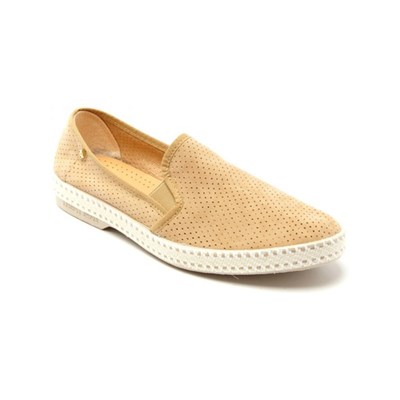 Riviera REBA SLIP-ON EN CUIR BEIGE Chaussure France_v2508