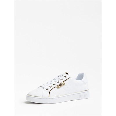 Guess BANQ BASKETS BASSES BLANC