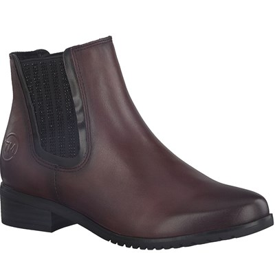 MARCO TOZZI BOTTINES BORDEAUX Chaussure France_v8291