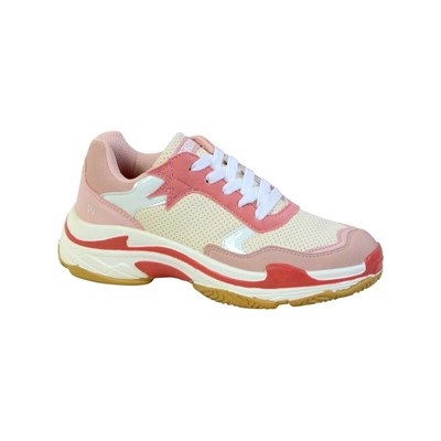 Le Temps des Cerises POWER LOW SNEAKERS ROSA