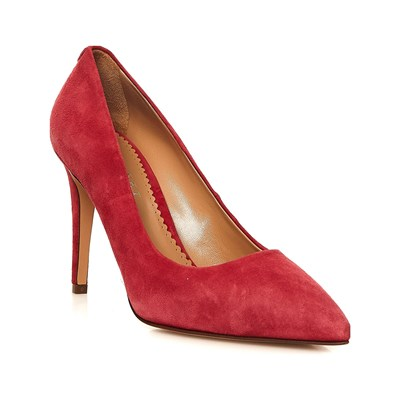 Twinset ESCARPINS EN CUIR ROUGE Chaussure France_v5597