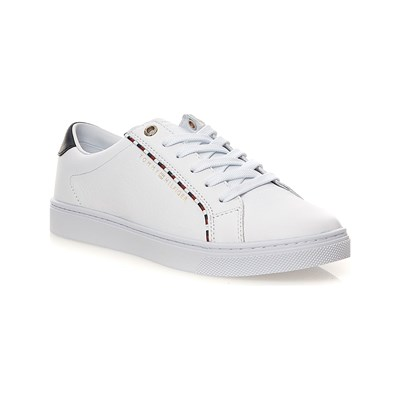 Tommy Hilfiger CORPORATE BASKETS BASSES EN CUIR BLANC