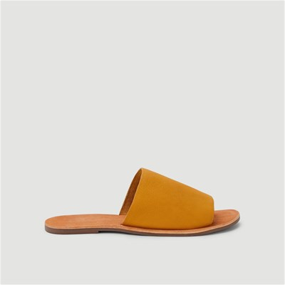 Monoprix MULES ORANGE Chaussure France_v1574