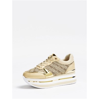 Guess BASKETS BASSES BEIGE Chaussure France_v15937