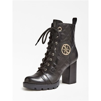 Guess RURAL BOTTINES EN CUIR NOIR