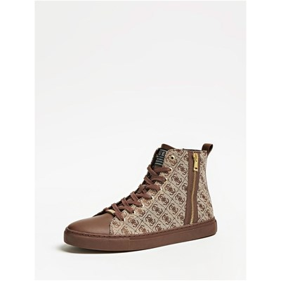 Guess LUISS BASKETS MONTANTES MARRON