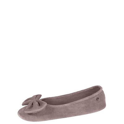 Isotoner REF_ISO34217 TAUPE CHAUSSONS MARRON