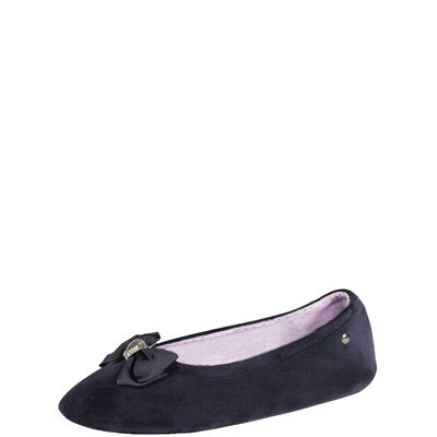 Isotoner REF_ISO44800 CHAUSSONS BLEU Chaussure France_v2534