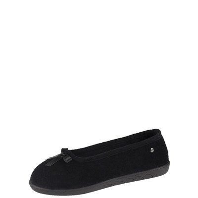 Isotoner REF_ISO44800 CHAUSSONS NOIR Chaussure France_v2537