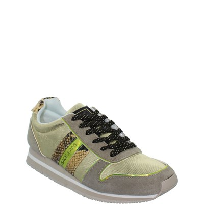 Versace Jeans REF_SWI39241 BASKETS BASSES TAUPE Chaussure France_v12308