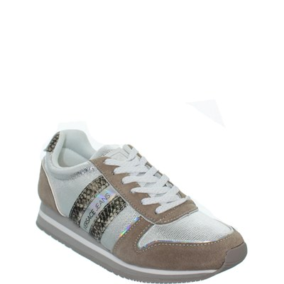 Versace Jeans REF_SWI39242 BASKETS BASSES BLANC Chaussure France_v12309