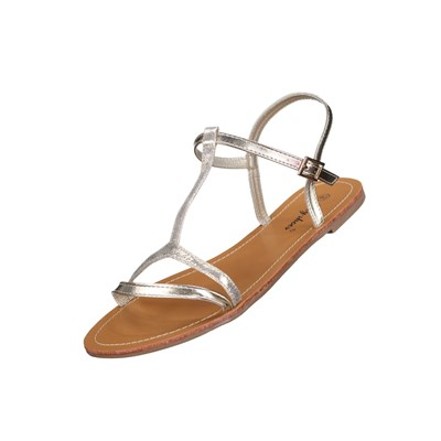 Lily Shoes L50-1 TONGS JAUNE Chaussure France_v910