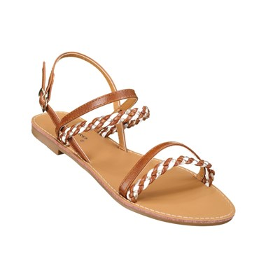 Lily Shoes L963 TONGS MARRON Chaussure France_v3609