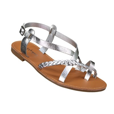 Lily Shoes HY TONGS GRIS Chaussure France_v1169