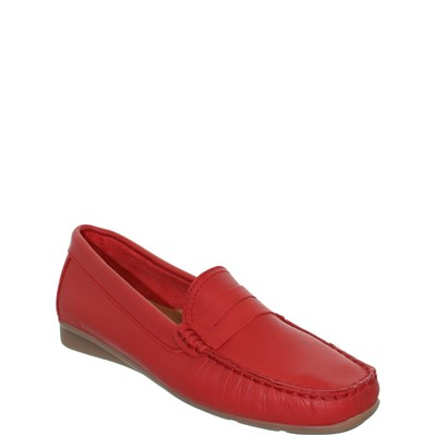 Johann JOHANN MOCASSINS ROUGE Chaussure France_v8315