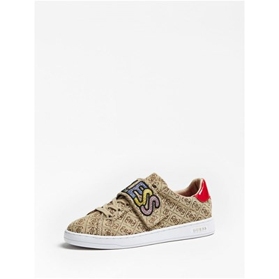 Guess CHEX BASKETS BASSES BEIGE Chaussure France_v12514