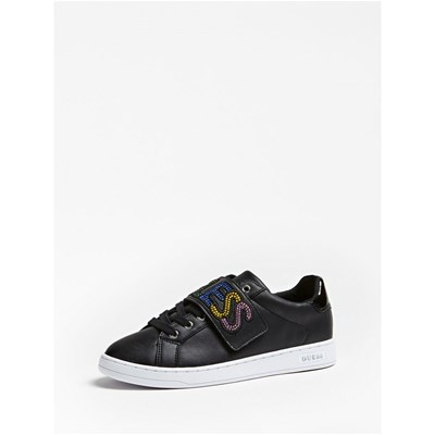 Guess CHEX BASKETS BASSES NOIR Chaussure France_v12516