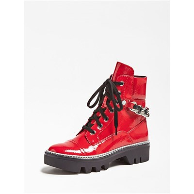 Guess RANGER DOMAIN BOOTS MOTARDES ROUGE Chaussure France_v16590