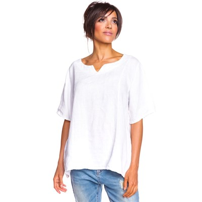 100% Lin ANTHEA TOP IN LINO BIANCO