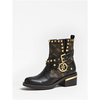 Guess FENIX BOTTINES CLOUS APPLIQUÉS NOIR