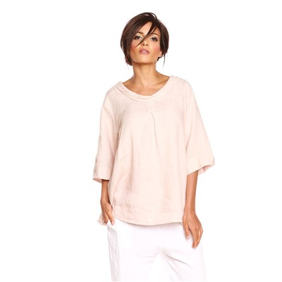 100% Lin MAGGY TOP IN LINO ROSA